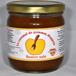 Pot de 430gr de caramel de pommes dieppois parfum  beurre salé.