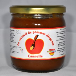 Pot de 430gr de caramel de pommes dieppois parfum cannelle.