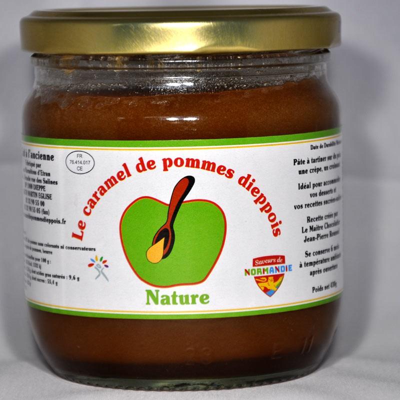 Pot de 430gr de caramel de pommes dieppois parfum nature.