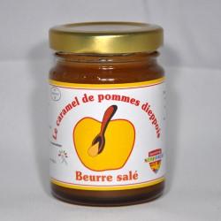 Pot de 110gr de caramel de pommes dieppois parfum  beurre salé.