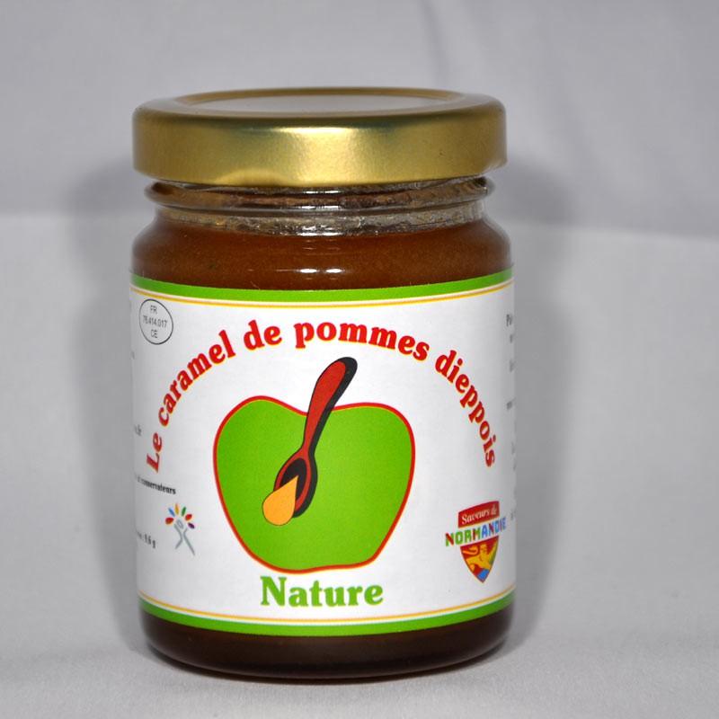 Pot de 110gr de caramel de pommes dieppois parfum nature.